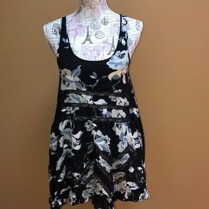 Intimately Free People Black Floral Trapeze Dress